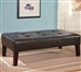 Dark Brown Vinyl Upholstered Ottoman by Coaster - 501047