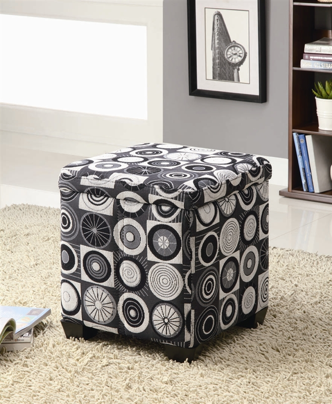 Rotundity Pattern Storage Ottoman By Coaster 501081