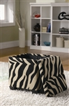 Khaki Zebra Storage Ottoman by Coaster - 501086