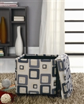 Grid Pattern Storage Ottoman by Coaster - 501089