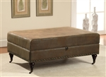 Coffee Color Storage Ottoman by Coaster - 501101