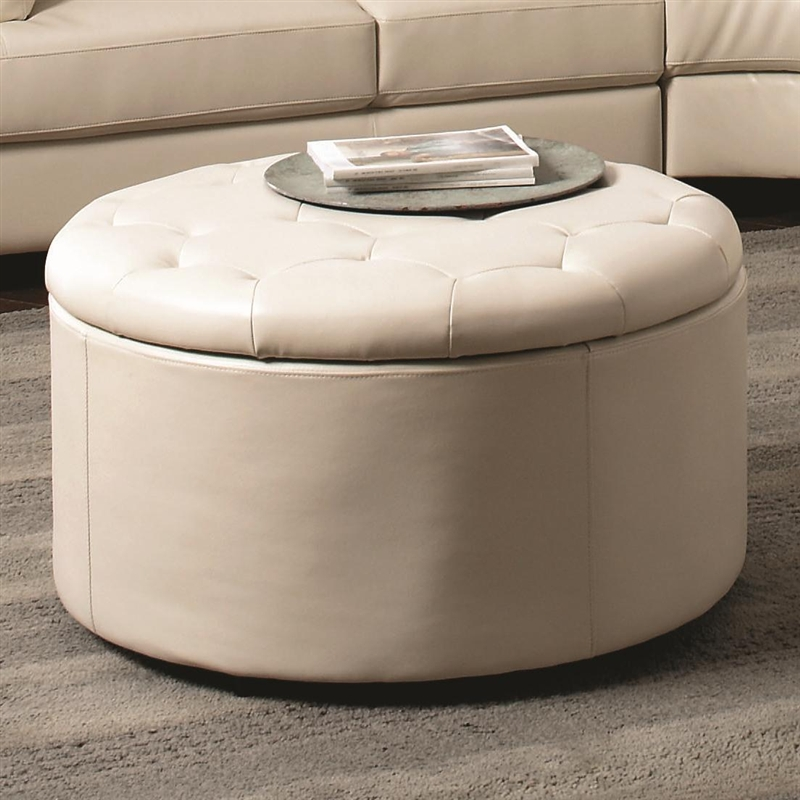 Square Leather Storage Ottoman Coffee Table Zab Living - White Leather  Ottoman Coffee Table CoffeTable - - Round Storage Ottoman Fabric House PR