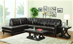 Haskin Chocolate Leather Sectional by Coaster - 501225