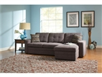 Gus Charcoal Chenille Sleeper Sectional by Coaster - 501677