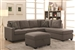 Powell Reversible Sectional in Beige Linen Upholstery by Coaster - 501687
