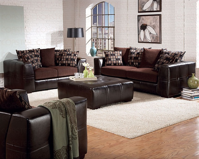 Kenneth 2 piece sofa set in a two tone cover combination for Sofa cama 99 euros