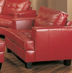 Samuel Red Leather Chair by Coaster - 501833