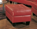 Samuel Red Leather Ottoman by Coaster - 501834