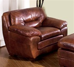 Cole Chair in 100% Brown Leather by Coaster - 502053