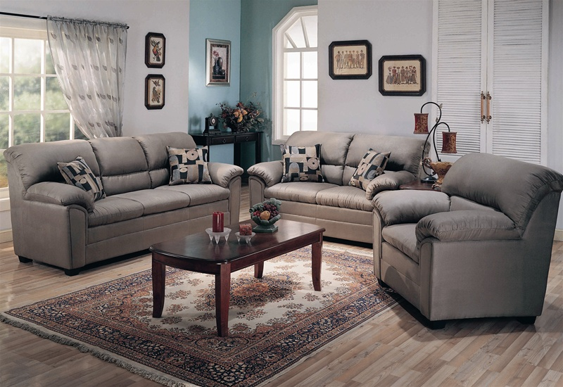 Microfiber Living Room Sets : Sumner Smoke Green Microfiber 2 Piece Living Room Set by ...