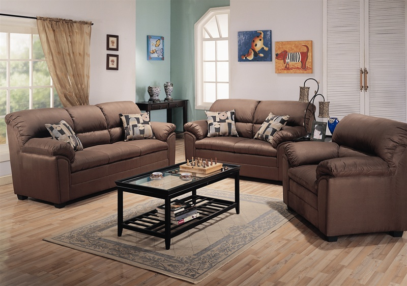 sumner saddle microfiber 2 piece living room set by