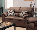 Sumner Saddle Microfiber Loveseat by Coaster - 502232
