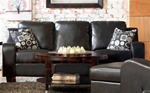 Java Sofa in Black Bonded Leather Upholstery by Coaster - 502271