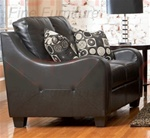 Java Loveseat in Black Bonded Leather Upholstery by Coaster - 502272