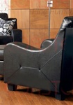 Java Chair in Black Bonded Leather Upholstery by Coaster - 502273