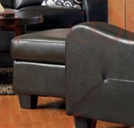 Java Ottoman in Black Bonded Leather Upholstery by Coaster - 502274