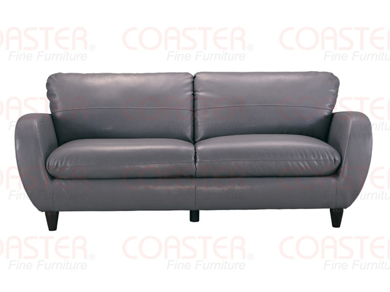 Piven chaise in gray bonded leather upholstery by coaster for Bonded leather chaise