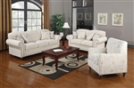 Norah Oatmeal Linen Fabric 2 Pc Sofa Set by Coaster - 502511-S