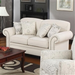 Norah Oatmeal Linen Fabric Loveseat by Coaster - 502512