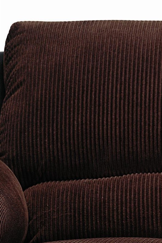 Monika Chocolate Corduroy 2 Piece Sofa Loveseat Set By