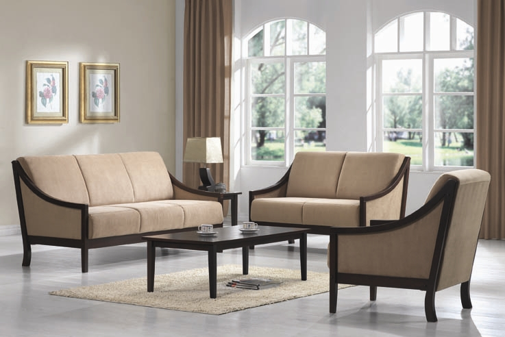 Uri 3 Piece Sofa Set In Beige Microfiber Upholstery By Coaster   502900