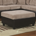 Henri Storage Ottoman in Two Tone Beige Corduroy by Coaster - 503016