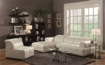 Darby White Leather Sectional by Coaster - 503617