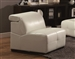 Darby White Leather Armless Chair by Coaster - 503617AC