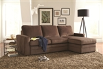 Gus Brown Microvelvet Sleeper Sectional by Coaster - 503871