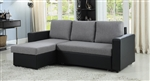 Everly Reversible Sectional Sleeper in Two Tone Fabric by Coaster - 503929