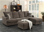 Moxie Sectional Sleeper in Chocolate Velvet Upholstery by Coaster - 503995