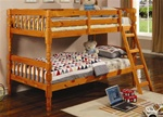 Twin/Twin Bunk Bed in Pine Finish by Coaster - 5040