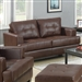 Samuel Loveseat in Dark Brown Leather by Coaster - 504072