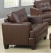 Samuel Chair in Dark Brown Leather by Coaster - 504073