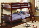 Twin/Twin Bunk Bed in Cherry Finish by Coaster - 5040CH