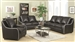 Myles 2 Piece Living Room Set in Black Leather by Coaster - 504221-S