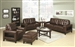 Paige 2 Piece Living Room Set in Brown Leather by Coaster - 504431-S