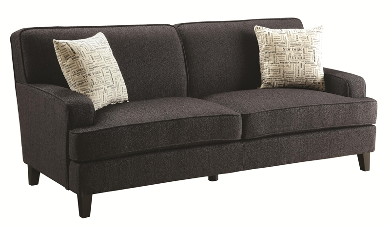 Sofa in Graphite Linen Fabric by Coaster