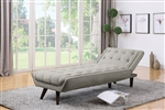 Natalia Chaise in Dove Grey Chenille Upholstery by Coaster - 505612