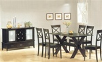 Park 7 Piece Dining Room Set with Cross Design in Cappuccino Finish by Coaster -5064