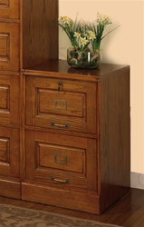 2 Drawer File Cabinet in Oak Finish by Coaster - 5317N