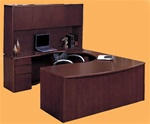 Sandoval 2 Piece Home Office Executive Set in Mahogany Finish by Coaster - 540UFP-2