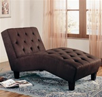 Brown Microfiber Chaise by Coaster - 550065