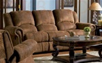 Rawlinson Double Reclining Sofa in Distressed Padded Microfiber Upholstery by Coaster - 550151