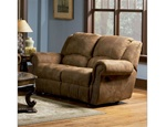 Rawlinson Double Reclining Love Seat in Distressed Padded Microfiber Upholstery by Coaster - 550152