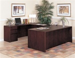 "Sandoval 72"" Executive Full Pedestal ""U"" Group in Mahogany Finish by Coaster - 550UFP"