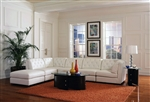 Quinn BUILD YOUR OWN White Leather Sectional by Coaster - 551021-B