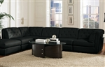 Quinn 5 Piece Black Leather Sectional by Coaster - 551031
