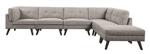 Churchill Build Your Own Modular Sectional in Grey Fabric by Coaster - 551301-BYO