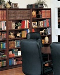 Sandoval Open Bookcase in Mahogany Finish by Coaster - 572